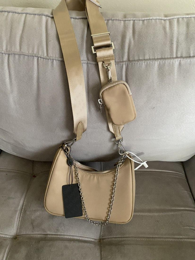 Frauen kleine Geldbörsen Hohe Qualität Nylon Reediton Crossbody Hobo Bag mit Original Box Multi Pochette 3 Stück Luxus Designer Marke Kette Umhängetaschen
