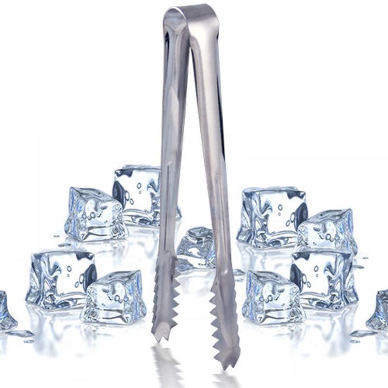 Baldes de gelo e refrigeradores 1 pcs pinças de aço inoxidável para barbecue bar bar barbecue clip clip pão pão tong cozinha ferramenta acessórios por atacado