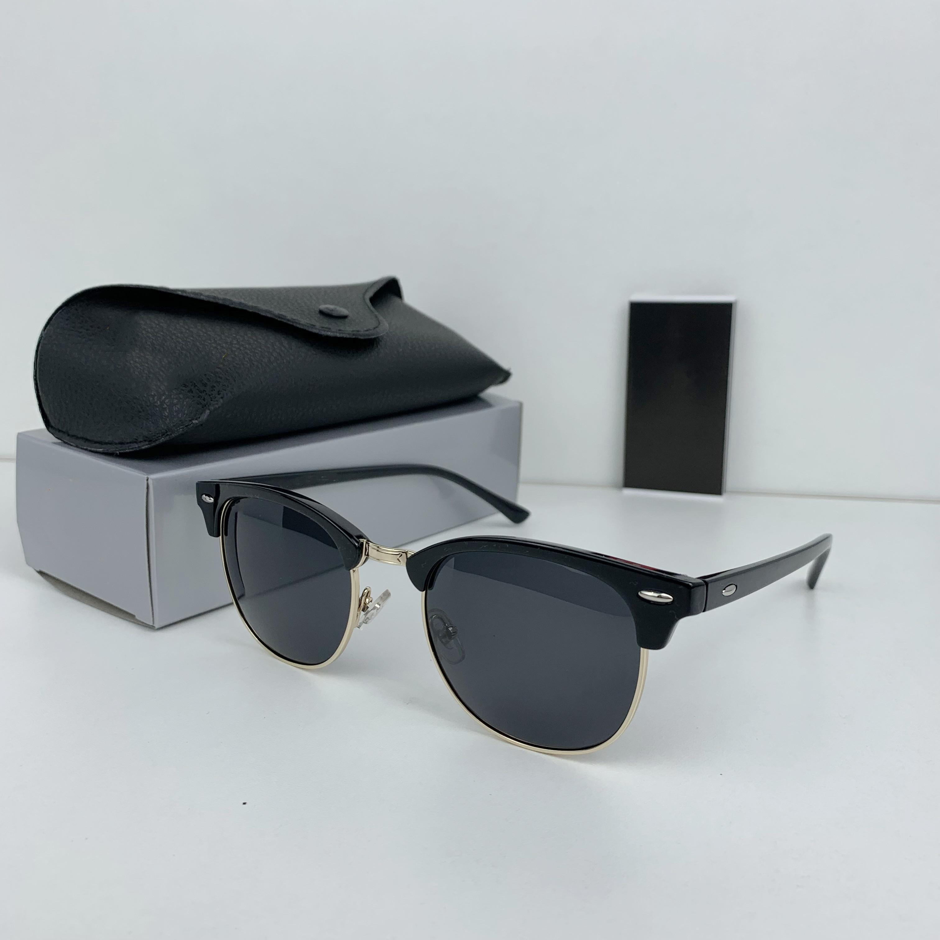 Luxury New Brand Polarized Designer Sunglasses Mens Women Pilot Sunglasses UV400 Eyewear Glasses Metal Frame Polaroid Lens Sun Glasses With Box