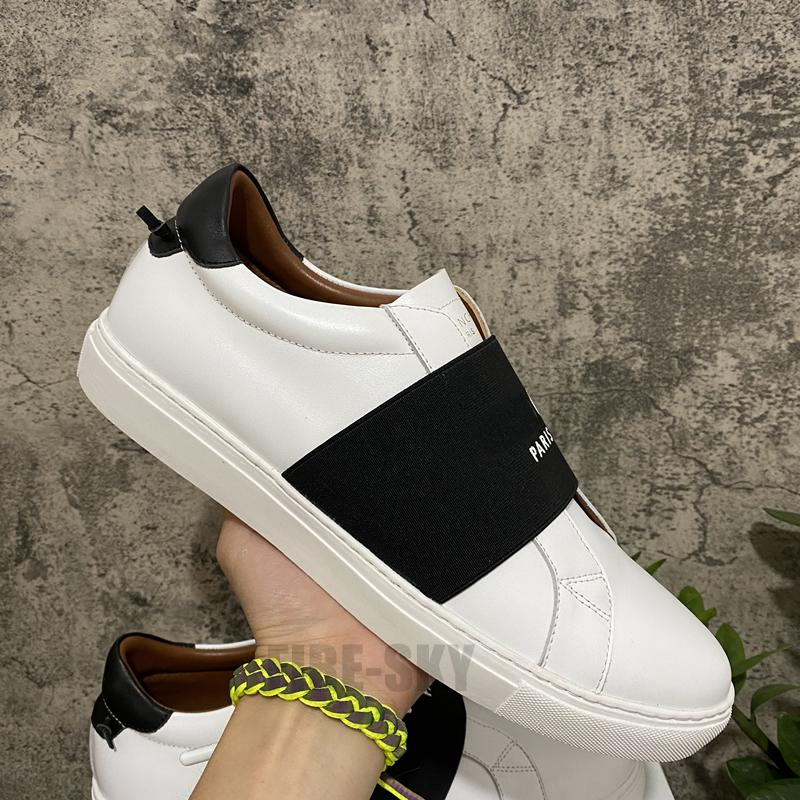 2021 En Kaliteli Erkek Bayan Deri Rahat Ayakkabılar Moda Beyaz Düz Açık Havada Günlük Elbise Şık Kutusu Boyutu 36-45