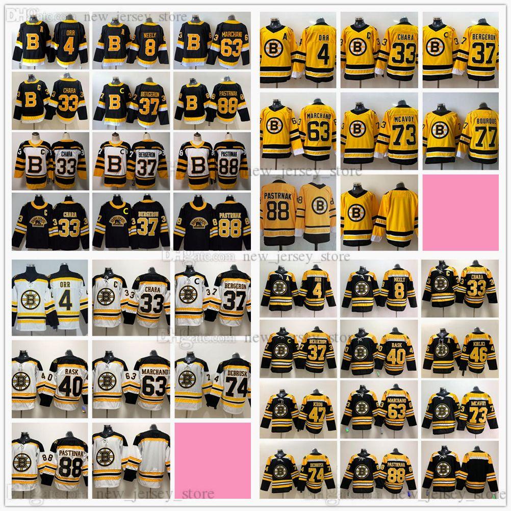 Retro Retro Hockey Jerseys 37 Patrice Bergeron Charlie McAvoy Zdeno Chara Brad Marchand David Pastrnak Ray Bourque Bobby Orr Cam Neely Tuukka Rask Jake Debrusk