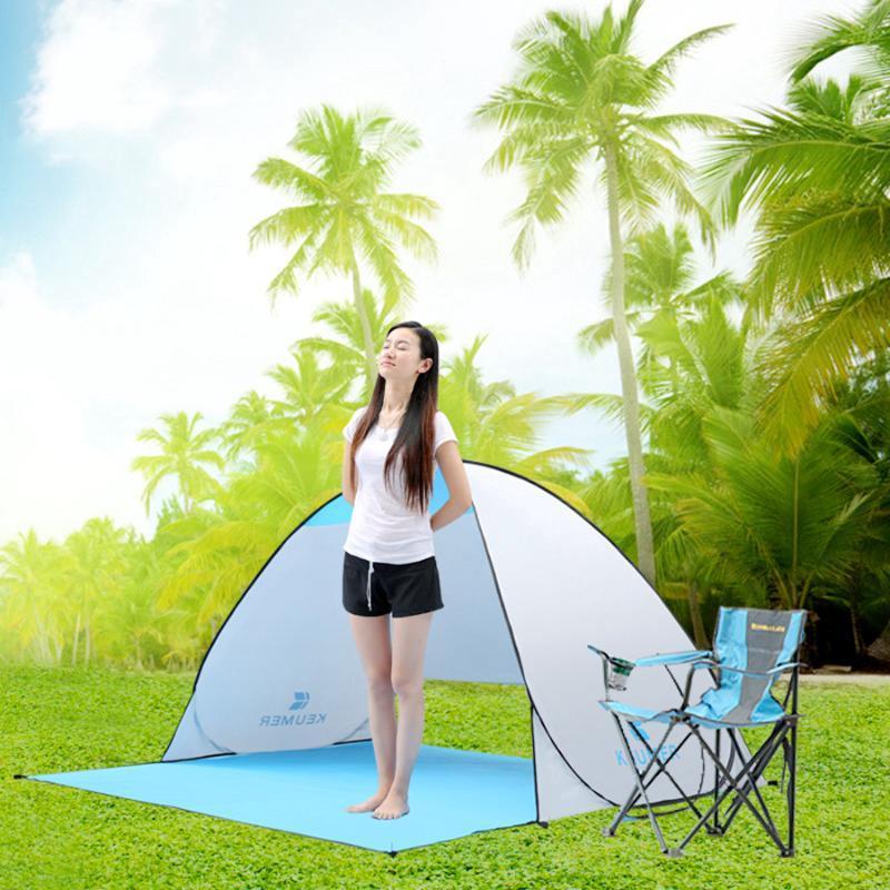 المحمولة الشمس الظل خيمة للشاطئ المضادة للأشعة فوق البنفسجية مأوى الأوتوماتيكية الفورية الخيام في الهواء الطلق التخييم الصيد المشي لمسافات طويلة نزهة والملاجئ