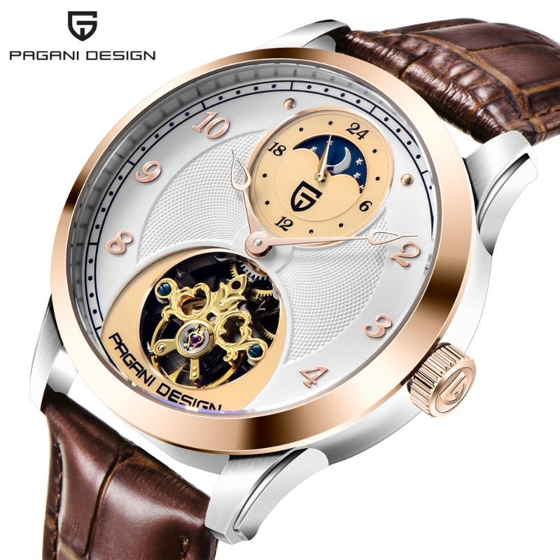 Armbanduhren Pagani Design Luxusuhr mechanische mechanische hohl automatische mode wasserdichte hochgradig tourbillon