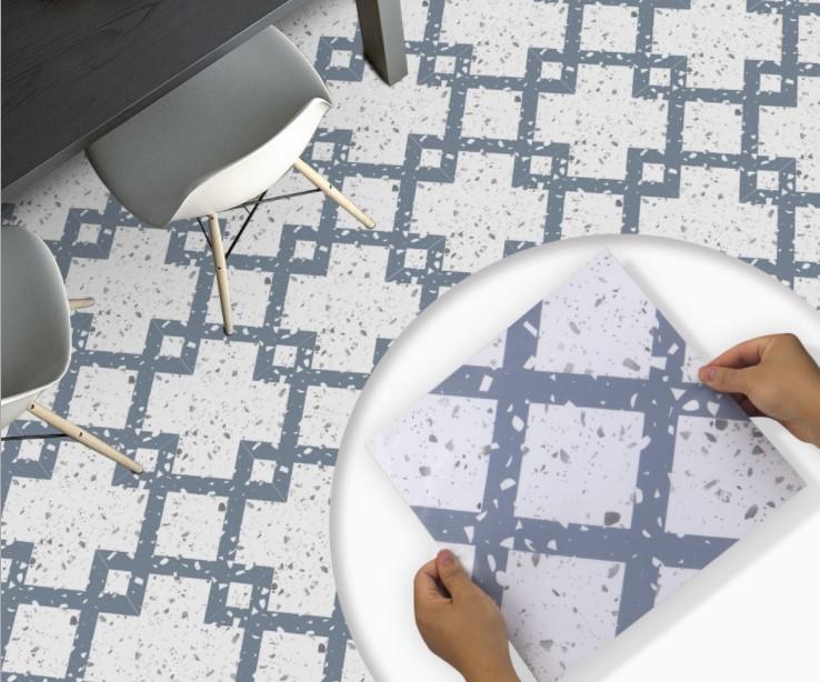2021 벽 스티커 바닥 스티커 욕실 테라 일 크리 에이 티브 기하학 바닥 혁신 및 변형 DZ30을 붙여 넣기