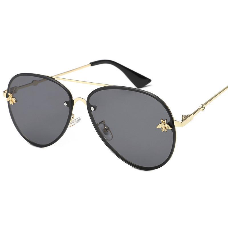 2021 Brand design sunglasses women men sun protective outdoor wearing branded designer superior quality fashion metal oversized glasses vintage female male UV400