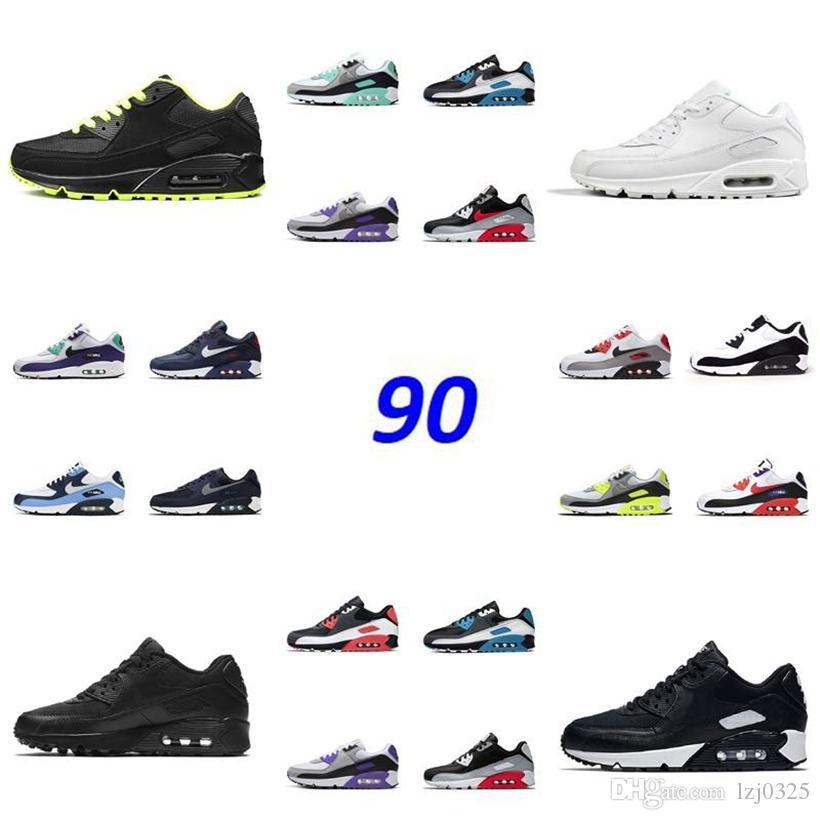 Botas clásicas 90 hombres para mujer zapatillas para mujer entrenadores EEUU Camo verde infrarrojos UNC Lima Láser azul Rosa Zapatillas deportivas al aire libre