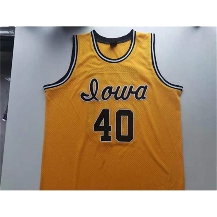 3740Rare jersey de basquete homens juventude mulheres vintage # 40 chris street Iowa hawkeyes tamanho da faculdade s-5xl personalizado qualquer nome ou número