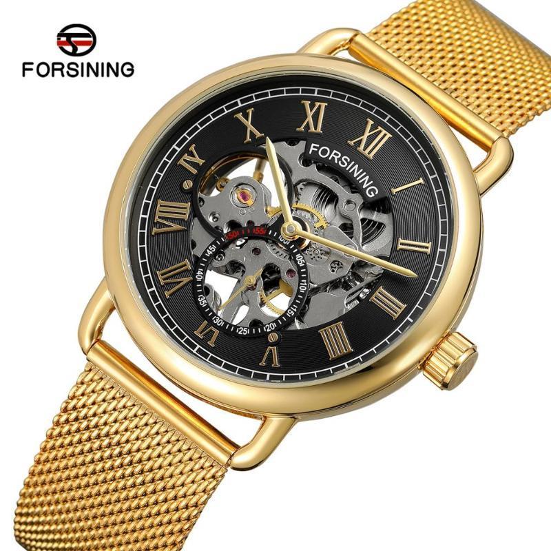 Armbanduhren forsining uhren mann mechanic skeleton gold uhr bewegung relojes hombre china männlich saat