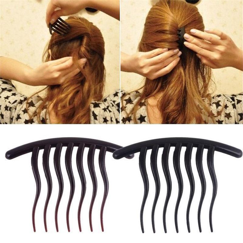 Trucco Dente ondulato Inserto per capelli Capelli Pettini per capelli Bouffant Ponytail Maker Clip per capelli Acconciatura Strumenti per capelli Accessori Grips Copricapo 1712 Q2