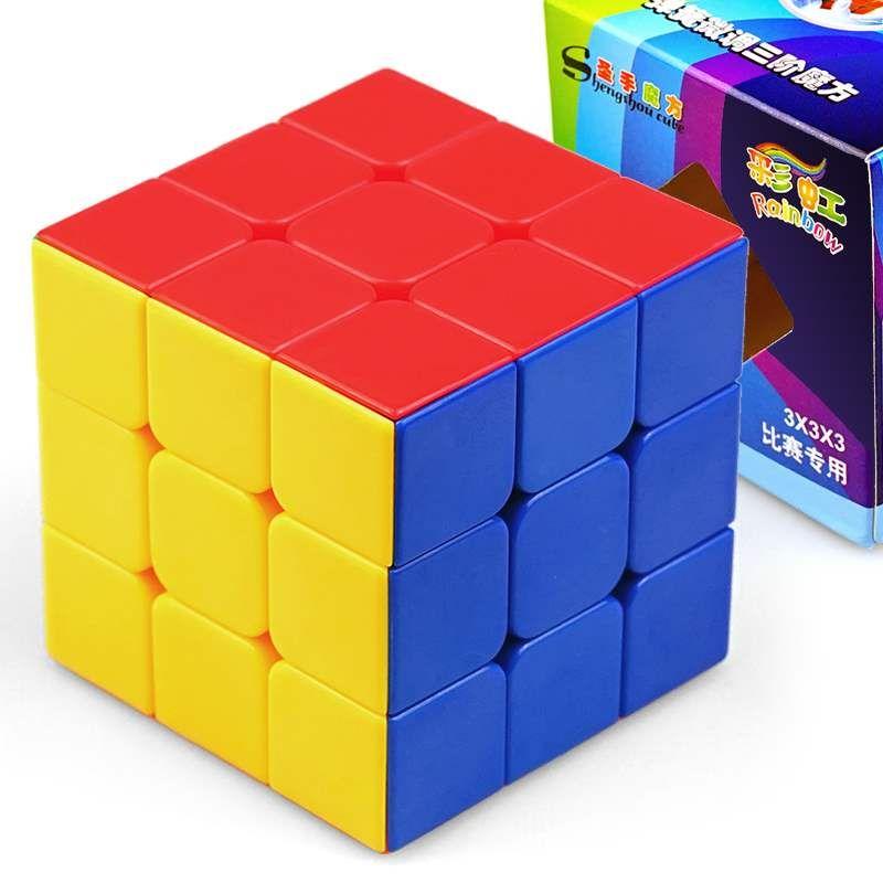 Shengshou مكعب rainbow 3x3x3 magci مكعب 3 طبقات ملتوية تويست لغز لعبة تعليمية للأطفال إسقاط الشحن