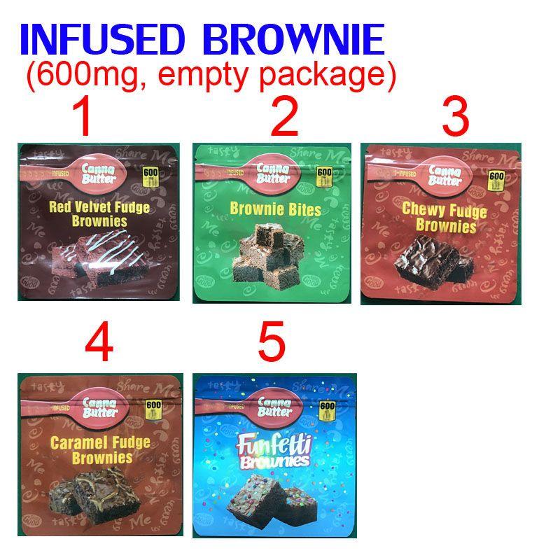 600 mg infundidos brownie bites comestibles embalaje mylar bolsas rojo terciopelo chewy caramel funfetti brownies chocolate