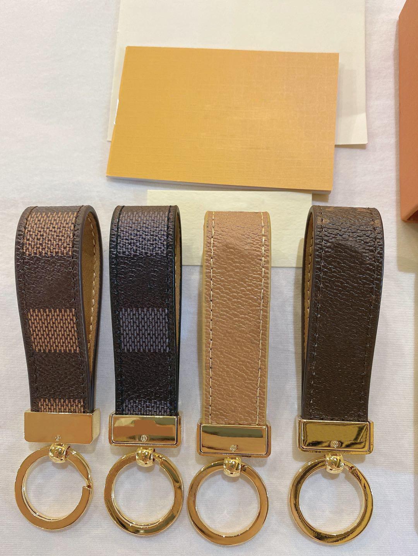 2021 Chaveiro Marca Designer Chaveiro Mens Luxo Carro Keyring Womens Buckle Keychains Handmade couro homens mulheres acessórios com caixa