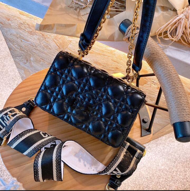 2021 여성을위한 최고 디자이너 캐비어 정품 가죽 가방 숙녀 핸드백 지갑 레이디의 크로스 바디 퀼트 플랩 사각형 가방 지갑과 puress