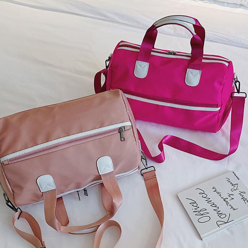 Duffel Bags Yoga Fitness Waterproof Shoulder Crossbody Messenger Bag Casual Ladies Travel Sports Storage Large Capacity Tote Handbags