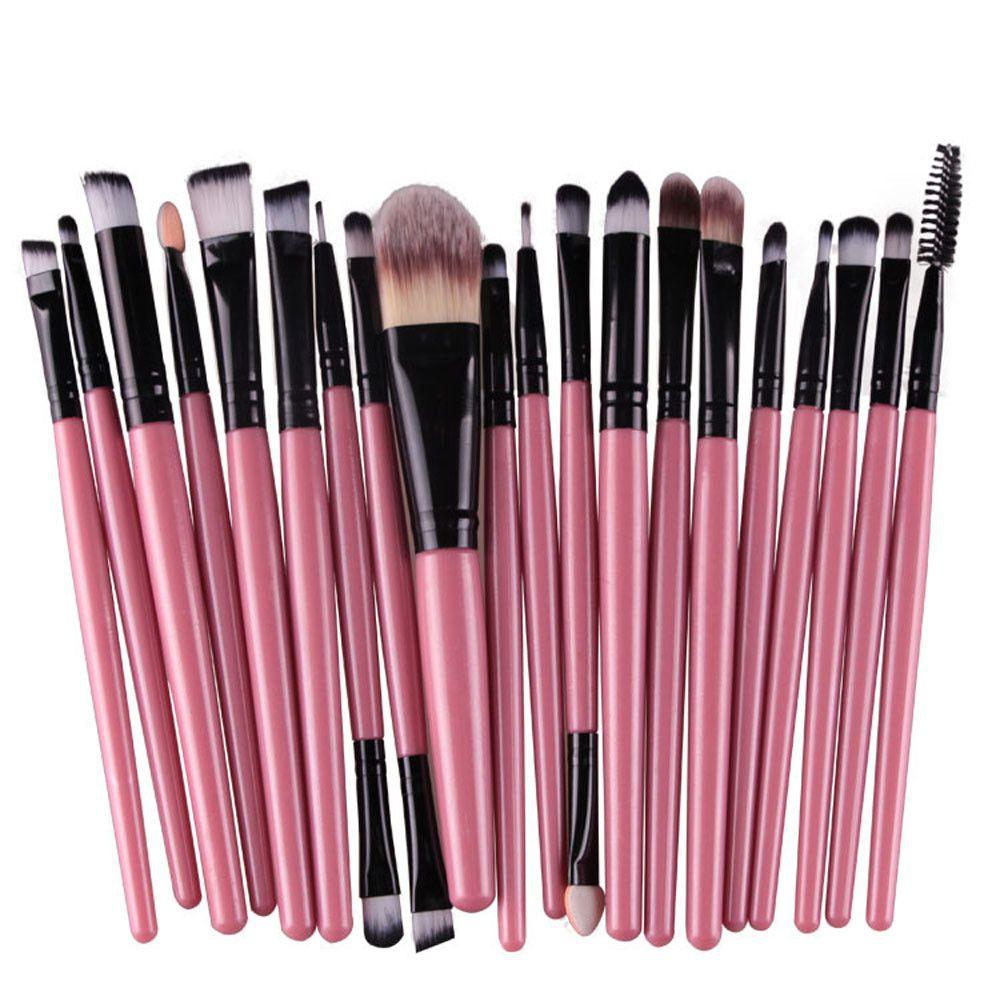20pc Women Makeup Brushes tools Toiletry Kit Wool Make Up Brush Set Pro Blending Eyeshadow Powder Foundation Eye