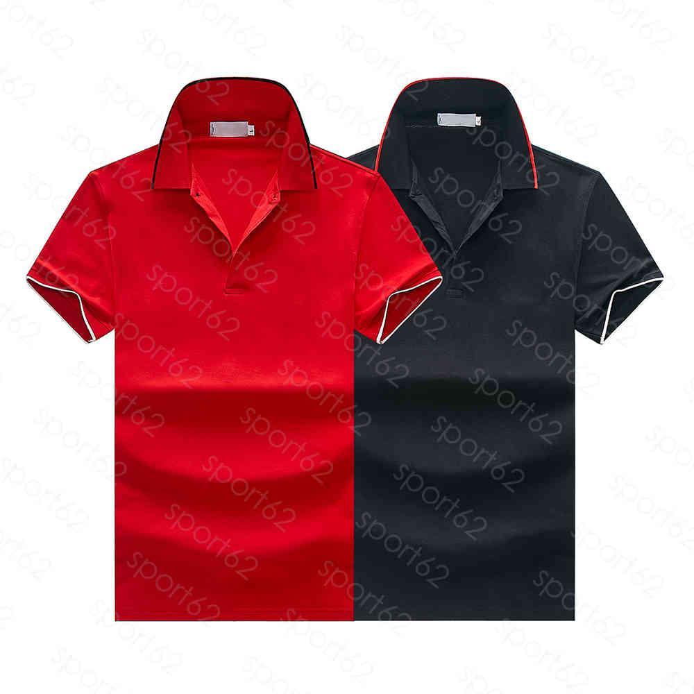 2020 İtalya Erkek Tasarımcı Polo Gömlek Adam Yüksek Sokak Nakış Jartiyer Baskı Markaları En Kaliteli Cottom Giyim Tees YVDX