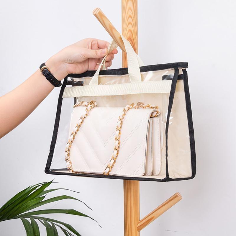 Copa do armário do guarda-roupa Capa de poeira transparente Decoração à prova de umidade para acabamento Saco de bolsa de bolsa de armazenamento