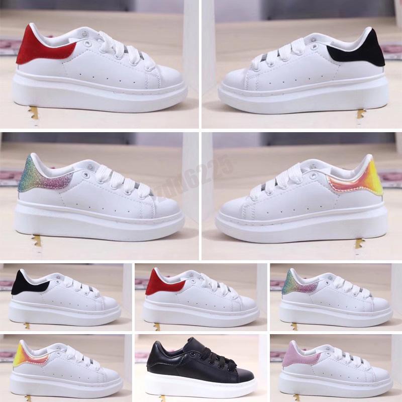 2021 Designer Scarpe per bambini per ragazzi Ragazze Sneaker Ander Ander Breve Bordo Bianco Nero Nero Red Boby Bambino Casual Sneakers Dimensioni 24-35