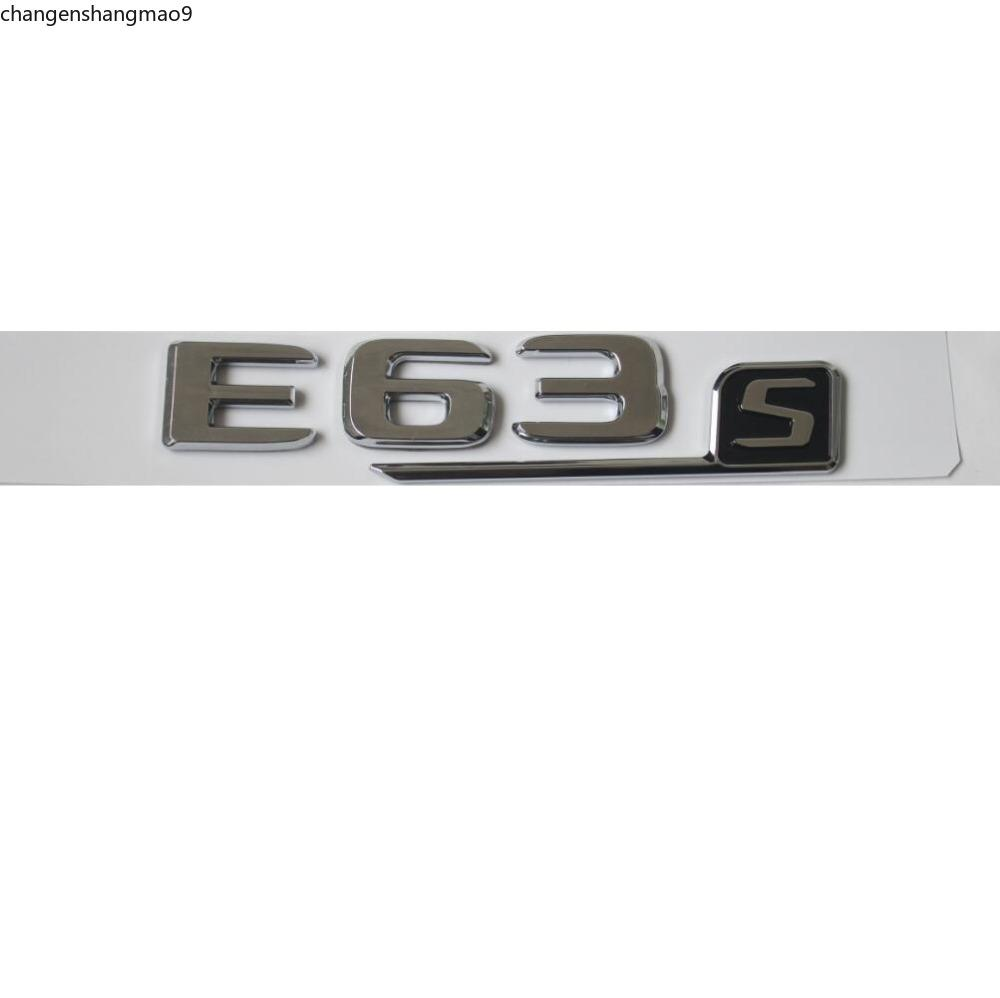 New Chrome ABS Rear Trunk Letters Badge Badges Emblem Emblems Sticker for Mercedes Benz E63 AMG S 2017+