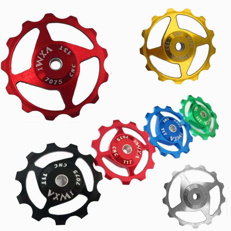 Bike Derailleurs 11T 13T Teeth Aluminum Alloy Transmission Guide Wheel Bearing Rear Dial Accessories Road Roller Idler.