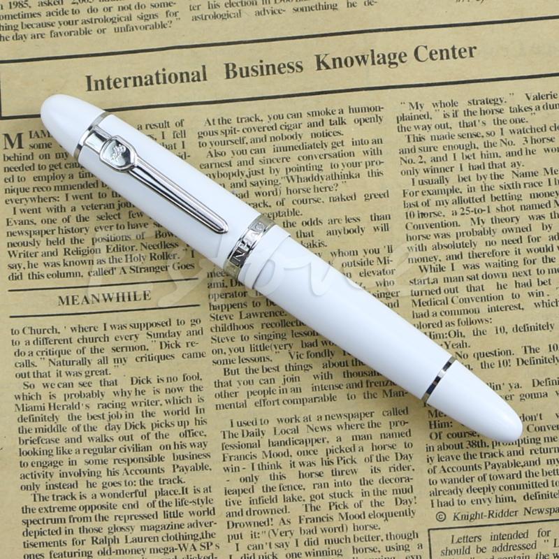 Fountain Pens Deluxe Steel Jinhao 159 Blue And Silver Trim Medium Nib Smooth Pen Dropship