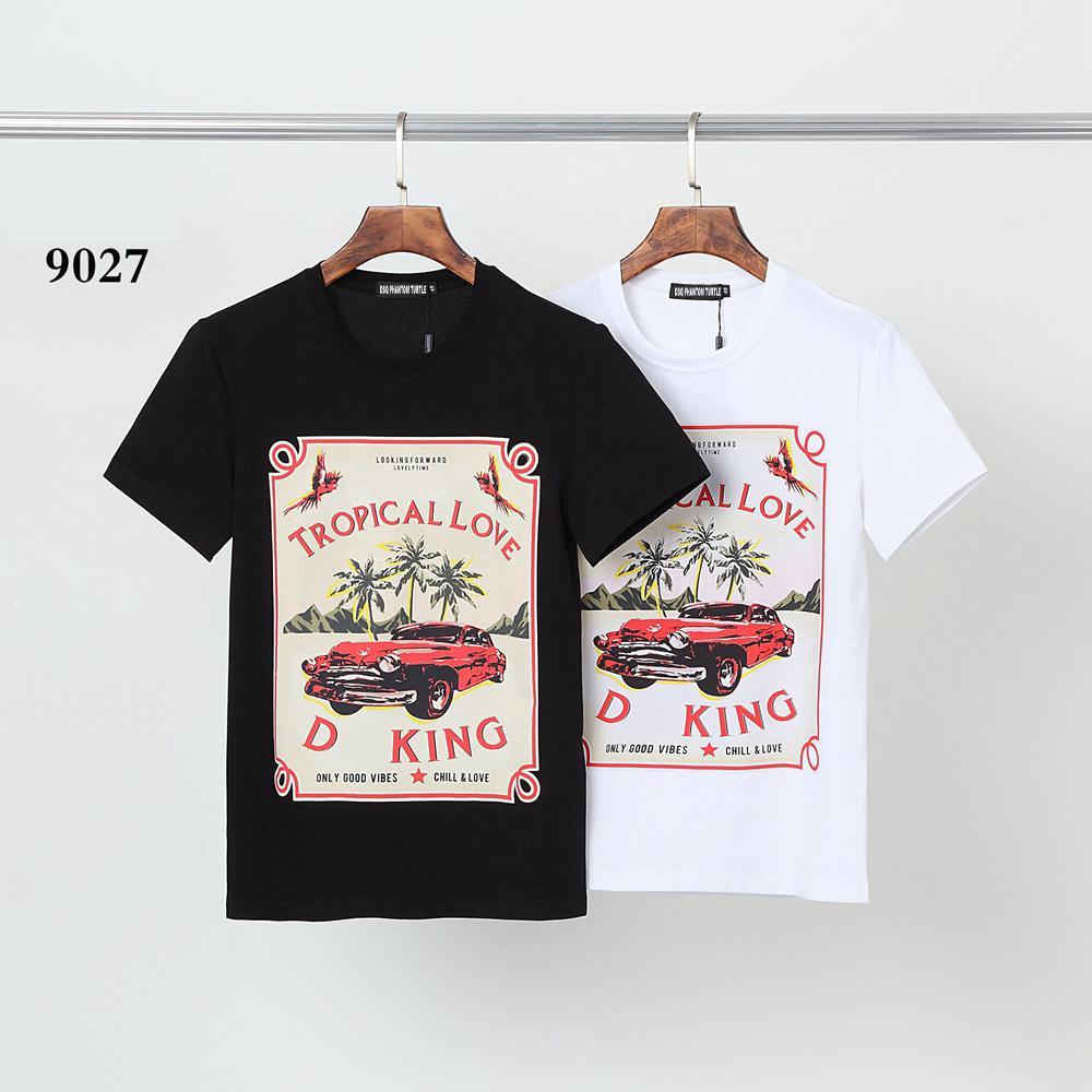 DSQ Phantom Turtle 2021ss New Mens Designer T-shirt Paris Mode T-shirts Été DSQ Modèle T-shirt Homme Top Qualité 100% coton Top 0603