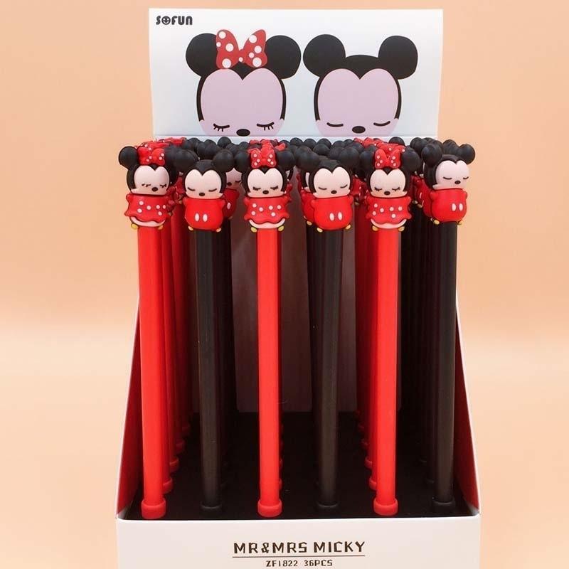 36 teile / los Maus Gel Stift zum Schreiben Niedlichen Tier Schwarze Tinte Signature Stift Schulbedarf Schreibwaren Geschenk 210330
