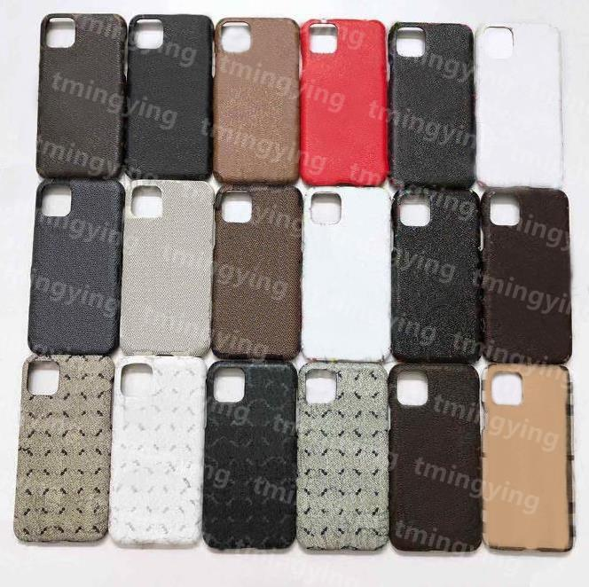 Lüks Tasarımcılar Deri Telefon Kılıfları iphone 12 Mini 11 Pro Max XS XR X 8 7 Artı Samsung S20 S21 Not 20 Moda Baskı Arka Kapak Kılıf
