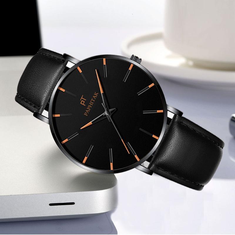 Wristwatches Creative Quartz Watch Women Men Lovers Couple Wristwatch Business Fashion Leather Watchband Watches Montre Femme
