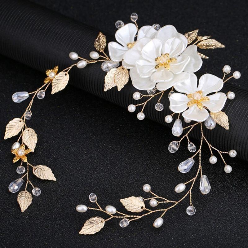 1 ADET Kadın Kızlar Saç Tarak Gelin Düğün Kristal Rhinestone Inciler Çiçek Klipler Takı Aksesuarları
