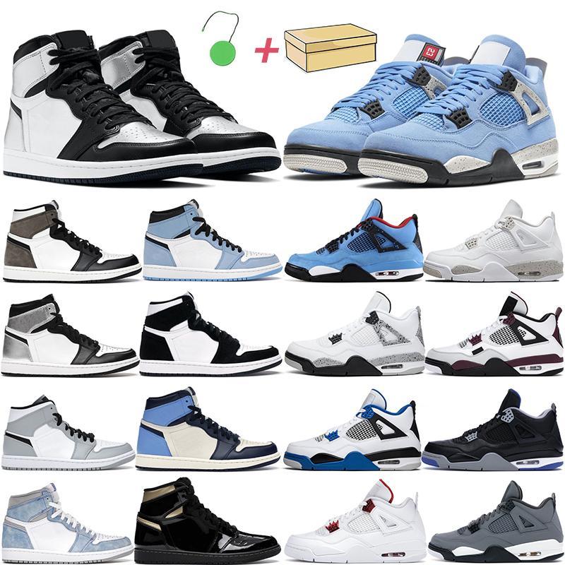 4s chaussures de basket-ball hommes femmes Jumpman 1S High OG Hyper Royal Silver Toe Université Bleu Cat Black Cat Turbo Green Unc Patent Hommes Baskets Baskets
