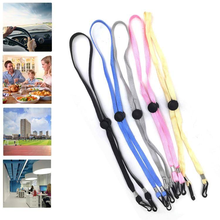 10pcs 64cm Multicolor Adjustable Mask Lanyard Hanging Rope Strap Glasses String Cord Holder Sunglasses Travel Eyeglasses Neck Hooks & Rails