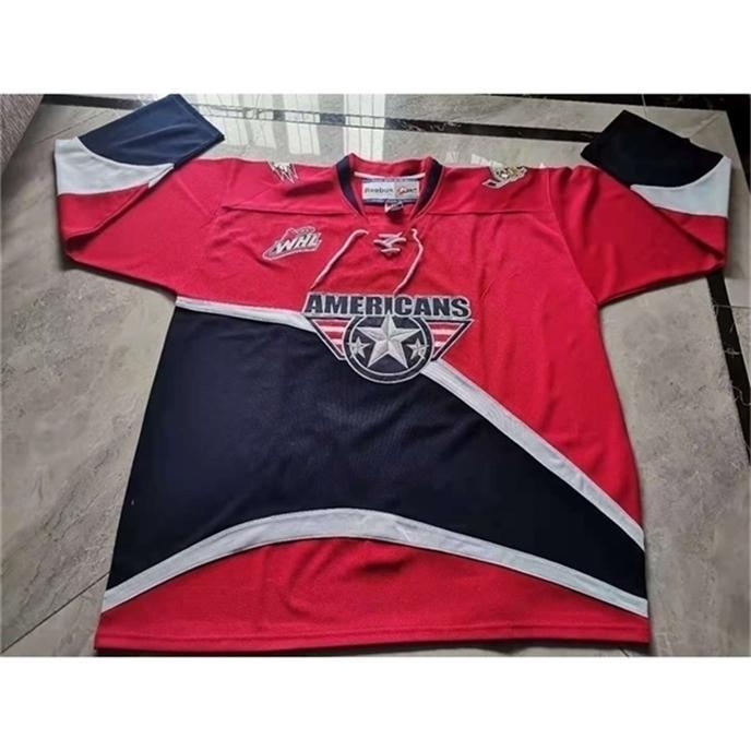 Bayrare hóquei jersey homens jovens mulheres vintage chl whl tri cidade americanos 2010 tamanho s-5xl personalizado todo nome ou número