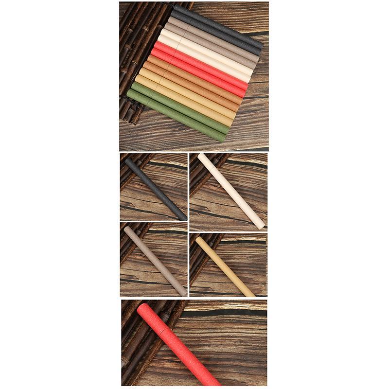 Tubo de incienso de papel Incienso Barril pequeña caja de almacenamiento para 10G Joss Stick Conveniente llevando tubo de cigarrillo Colores aleatorios