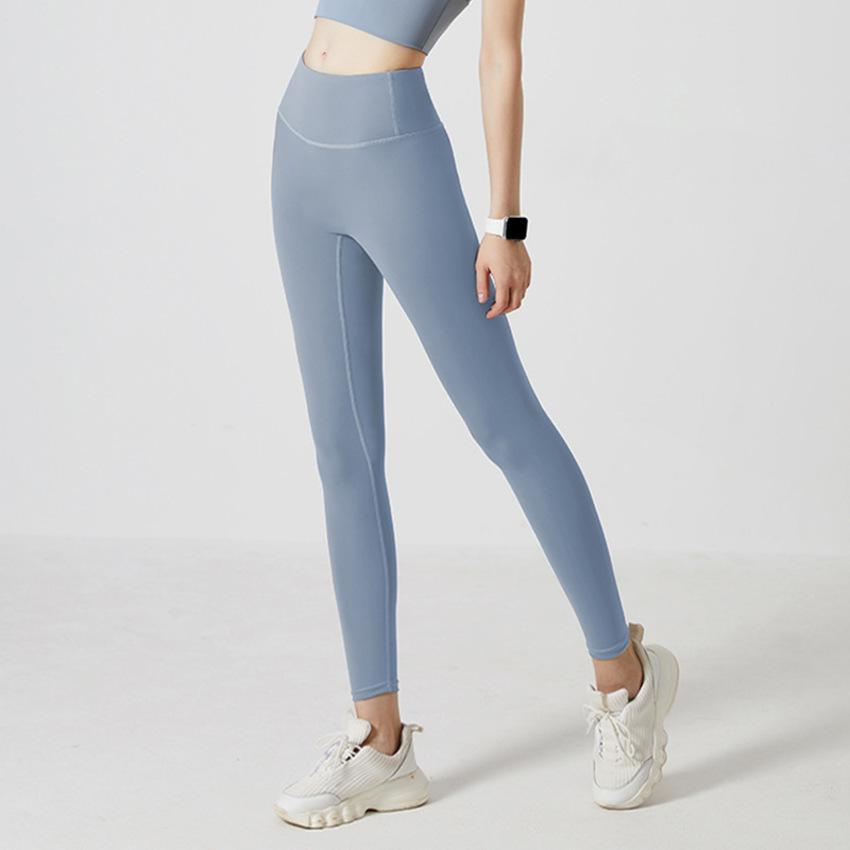 Women's Tracksuits SS Yoga Pants thread peach high waist hip lifting elastic naked feeling women's running tights