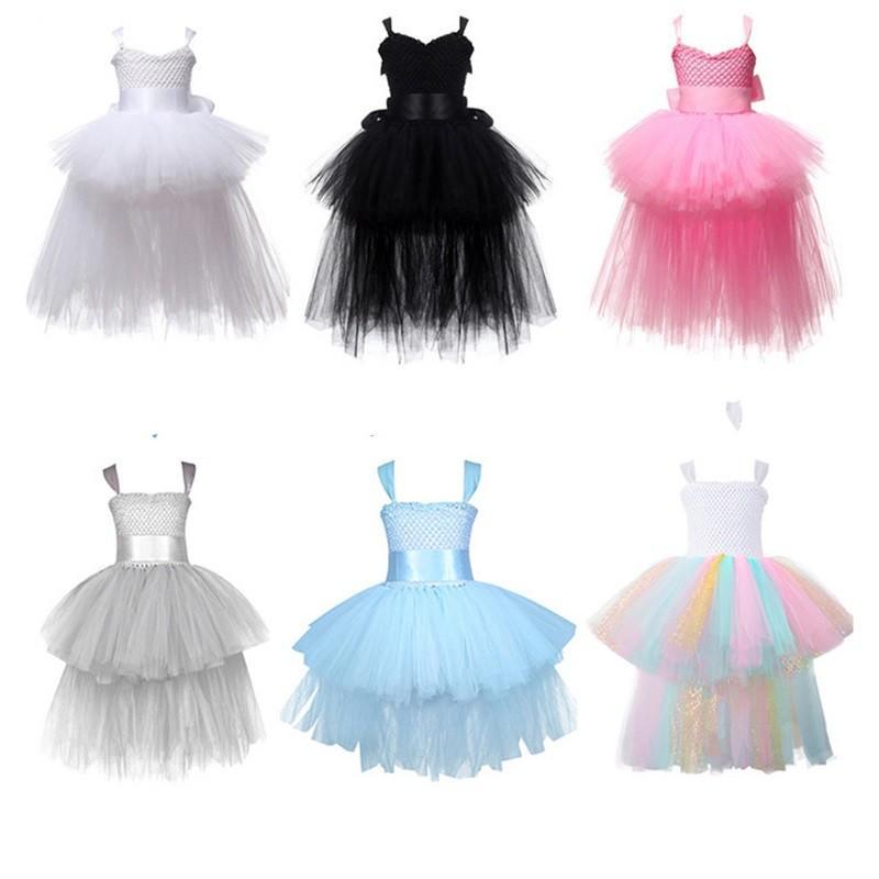 Halloween Weihnachten Prinzessin Kleider Baby Mädchen Ballkleid Tutu Spitze Kleider Kinder Brautkleider Party Kostüme für Kinder 796 x2