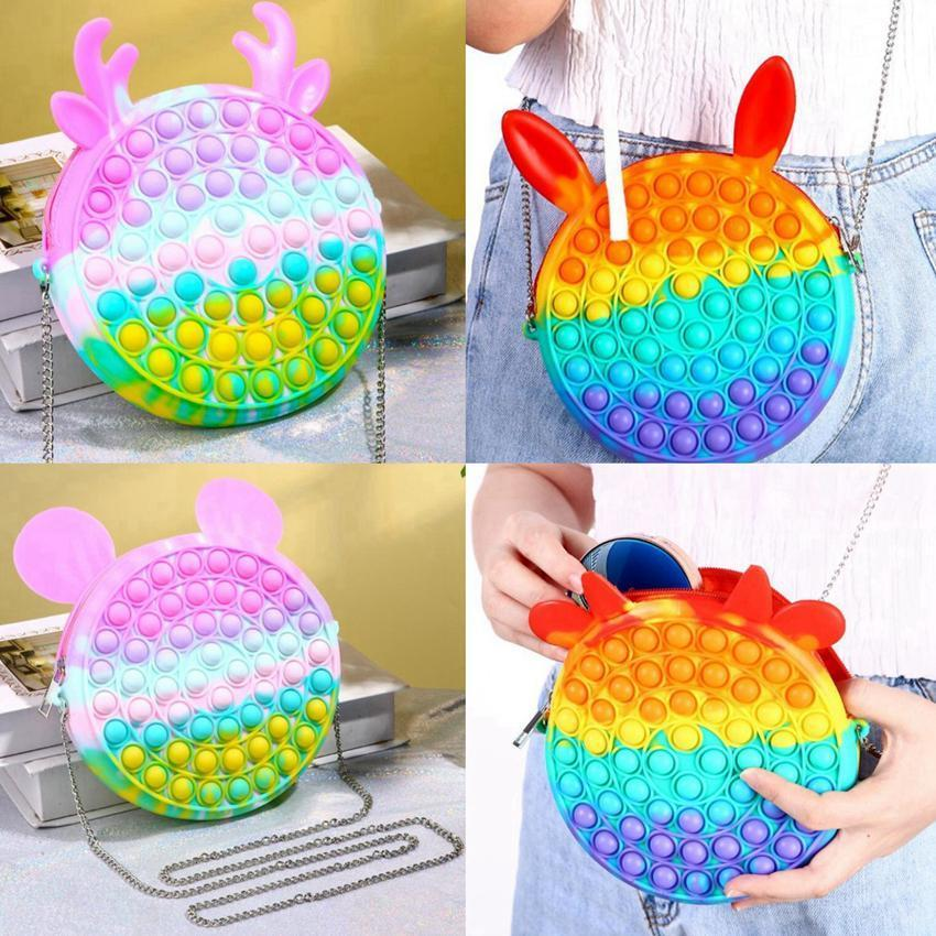 Decompression toy Bag type finger bubble music press fingertip children's toys to relieve stress