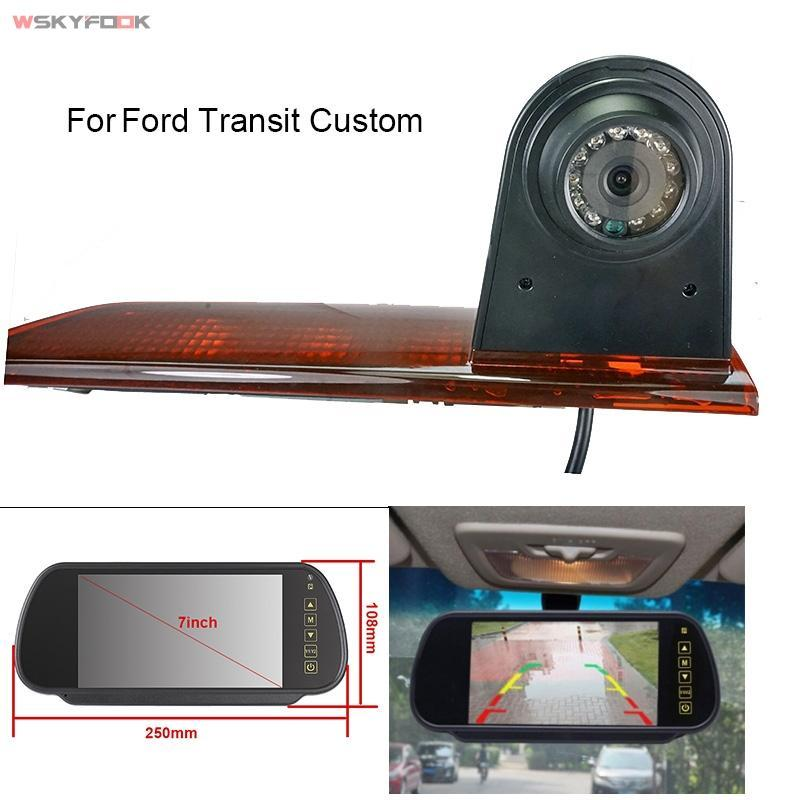 Câmeras traseiras do carro das câmeras do estacionamento dos sensores do estacionamento da câmera do freio da câmera da câmera da câmera da câmera da câmera do freio de 7 polegadas para o costume 2012-202 do monitor de 7 polegadas