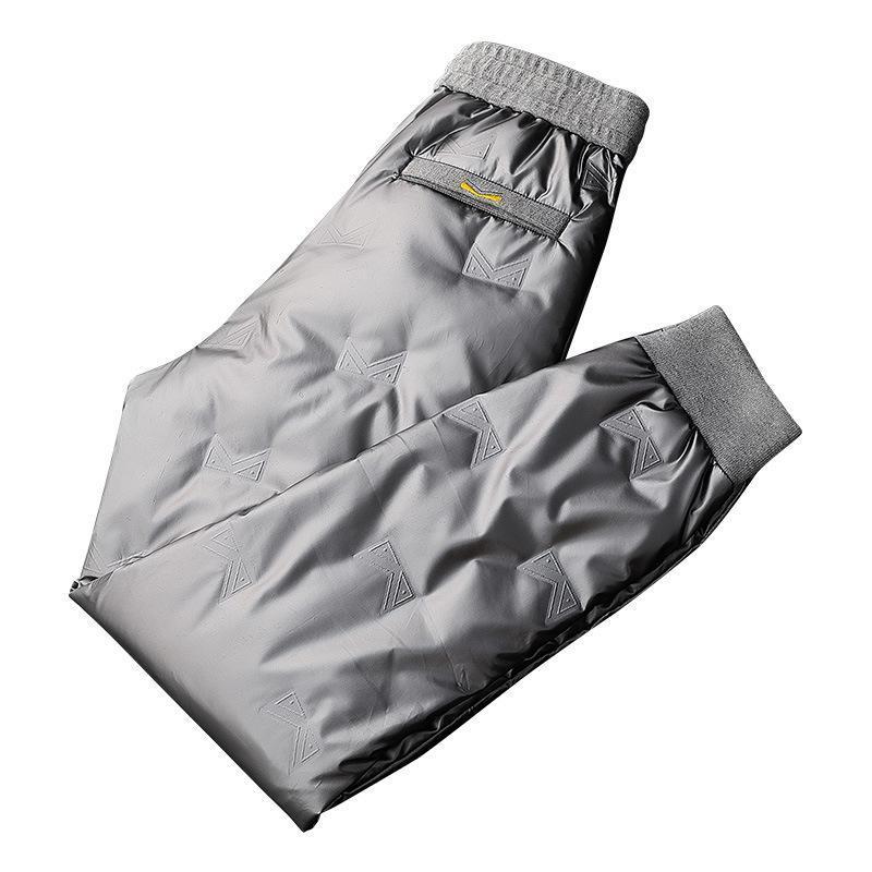 Calças masculinas 2021 no inverno fora do lado de fora de um homem desgaste suor esportes ao ar livre pena calças de pato pato homens mantêm fora o frio