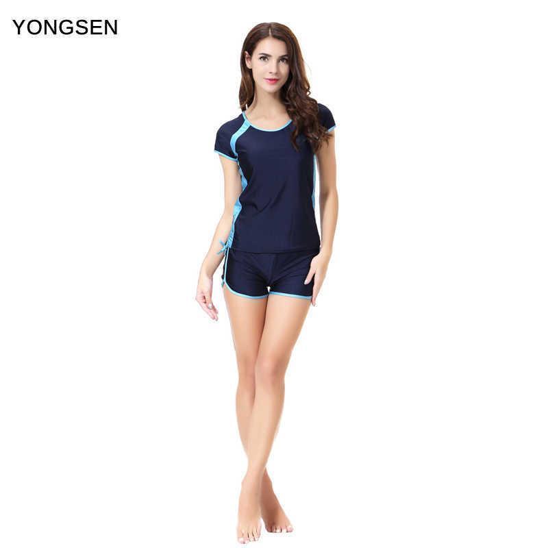 Yongsen Plus Size Burkinis Burkinis Hijab Muslimah I islamico Swim Wear Swimsuits Modest Musulmani Swimwear Swimwear a maniche corte a maniche corte