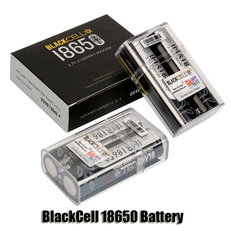 Authentic Blackcell IMR 18650 batteria 3100mAh 40A 3.7 V di scarico alto ricaricabile piano ricaricabile piatto vape scatola mod litio batterie originali