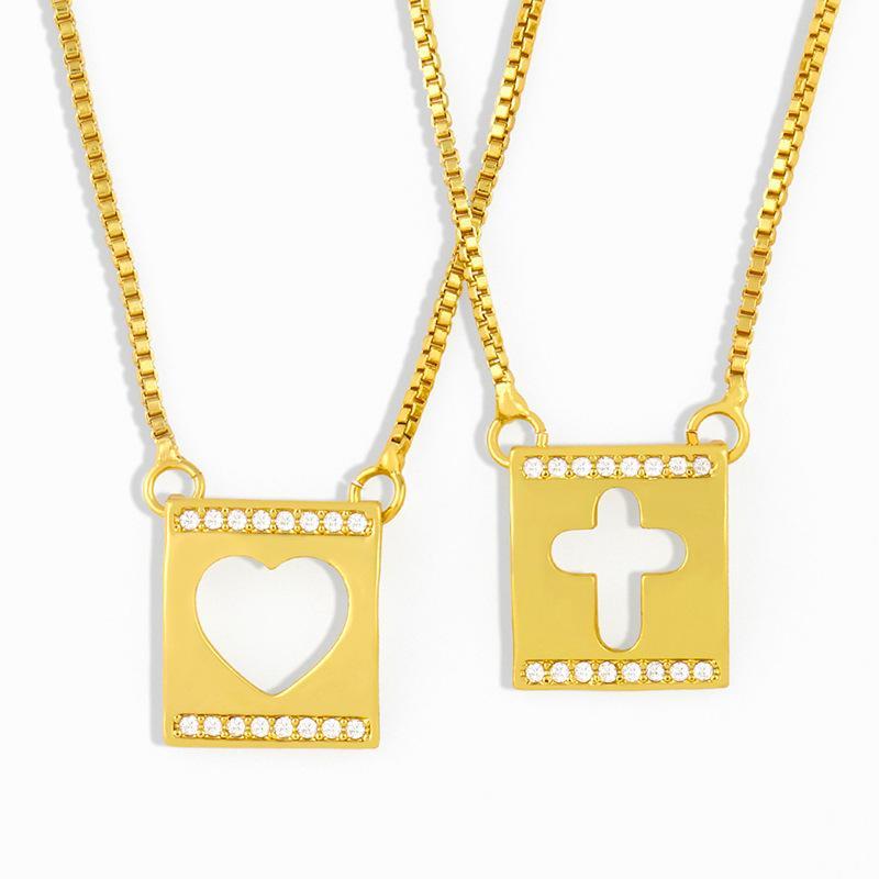 디자이너는 모양의 사각형 기하학적 펜던트 한국 기질을 다이아몬드 쇄골 체인 모리 달콤한 목걸이 여성 NKR71