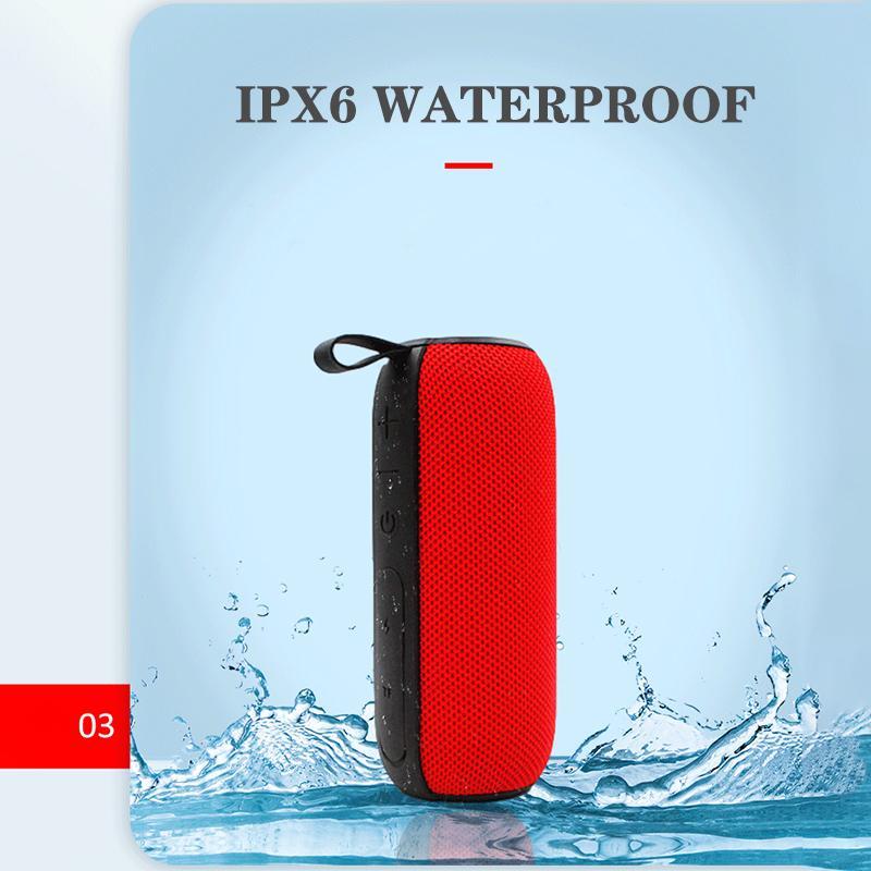 مصغرة المزدوج مكبر الصوت مضخم صوت محمول بلوتوث اللاسلكية المتكلم 2200ma بطارية قابلة للشحن الثقيلة باس ثلاثة ألوان للماء IPX6