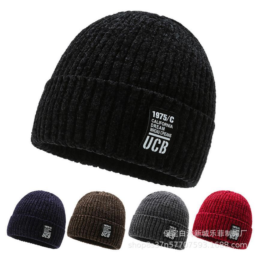 Мужская шляпа зима плюшевая вязаная корейская версия универсальная теплая шерсть на открытом воздухе