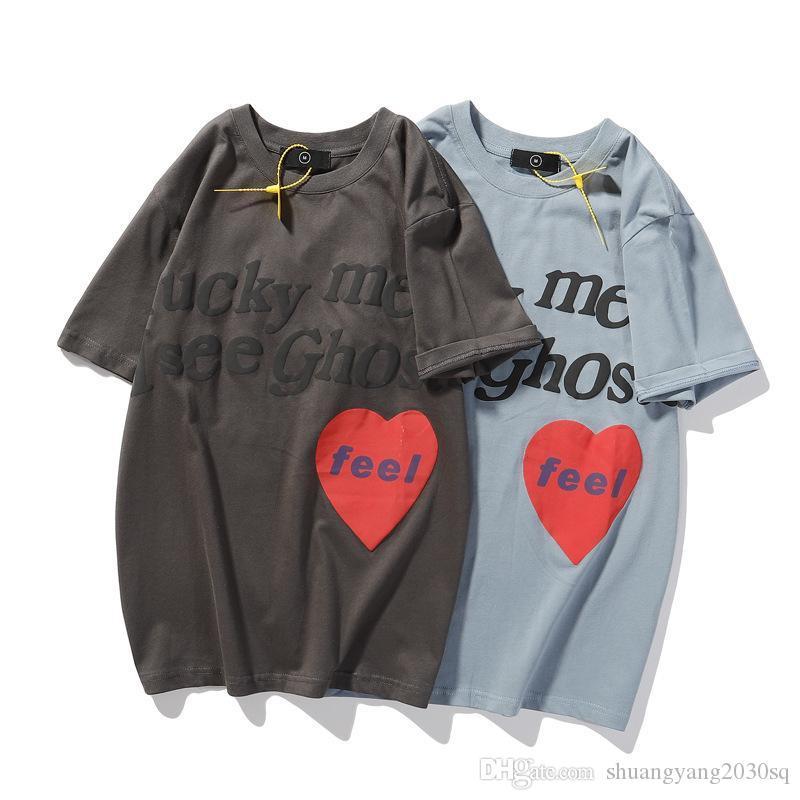 Top da uomo e donna estate Top Tees Moda Lettera Amore T-shirt a maniche corte in abbigliamento in cotone a maniche corte hip-hop