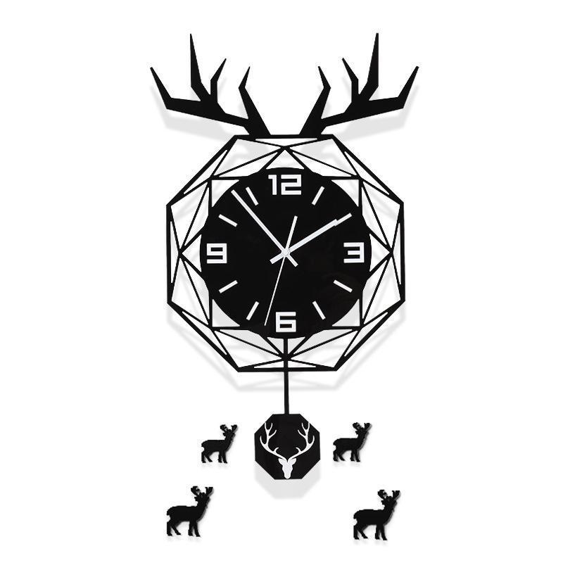 Duvar Saatleri Geometrik Kuzey Avrupa Tarzı Saat Modern Tasarım Oturma Odası Yaratıcı Moda Ile Sticker Ev Dekorasyonu