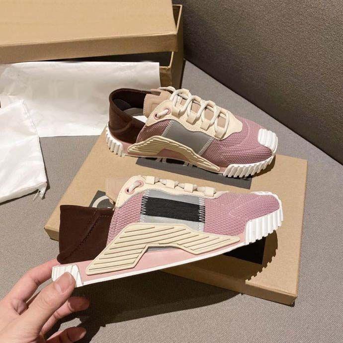 Top Quality Mens Femmes De Luxurys Designers Chaussures En Cuir Baskets Boudres Entraîneurs Classiques Entraîneur Sneakers avec Box Home011 01