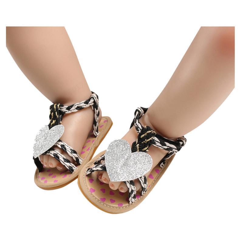 유아 유아 아기 아기 소녀 부드러운 유일한 아플리케 샌들 신발 단일 봄 아이들의 zapatos