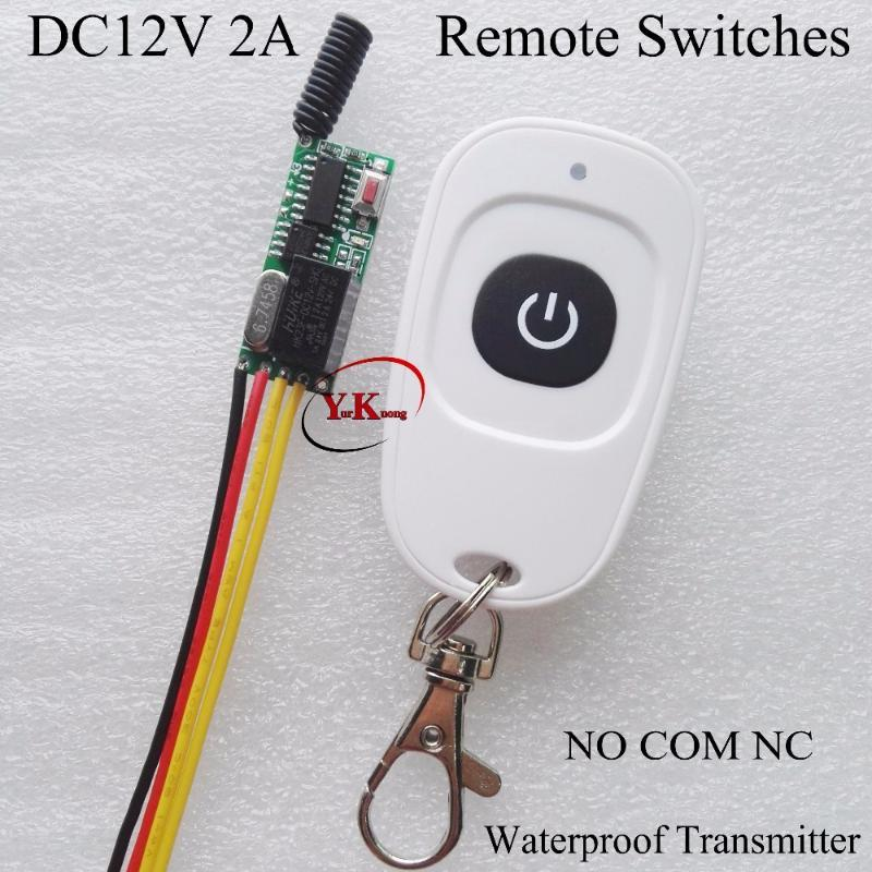 Smart Home Control DC 12V 2A Relay Contact Button Remote Switches Console NO COM NC Normally Closed Open Micro Switching Wireless Switc Batt