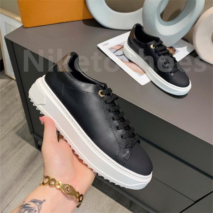 Luxurys Designer Frauen Schuh Italien Time Out Sneaker Niedrig Top Casual Schuhe Gummi-Außensohle Herren Gedruckt Kalbsleder Klassische Trainer